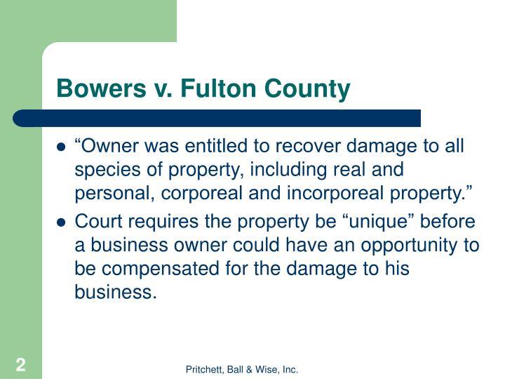 Bowers v. Fulton County