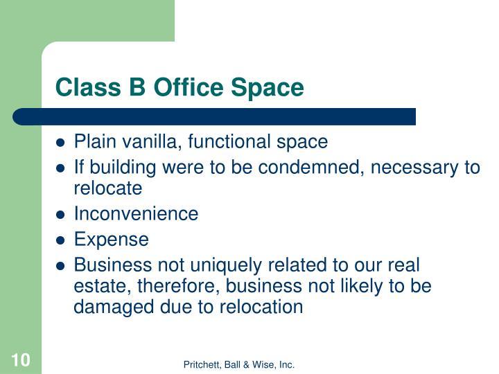 Class B Office Space