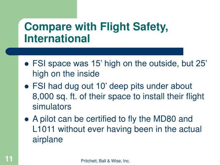 Compare with Flight Safety, International