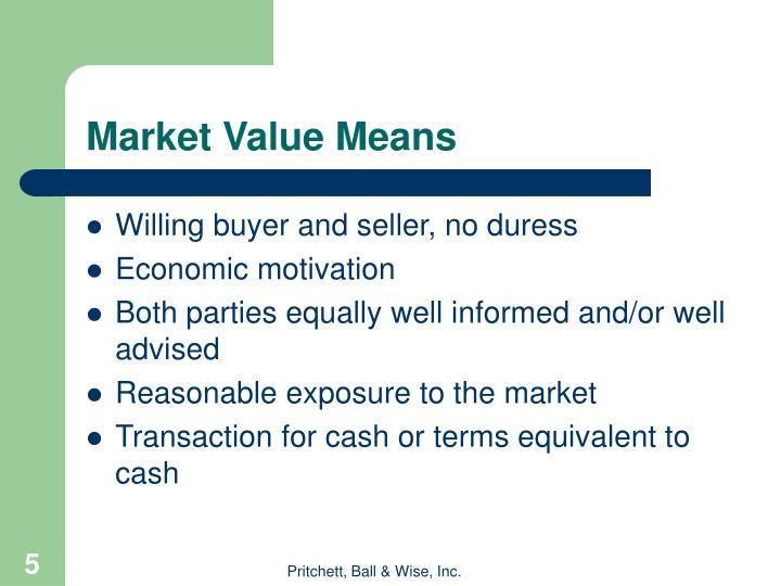 Market Value Means