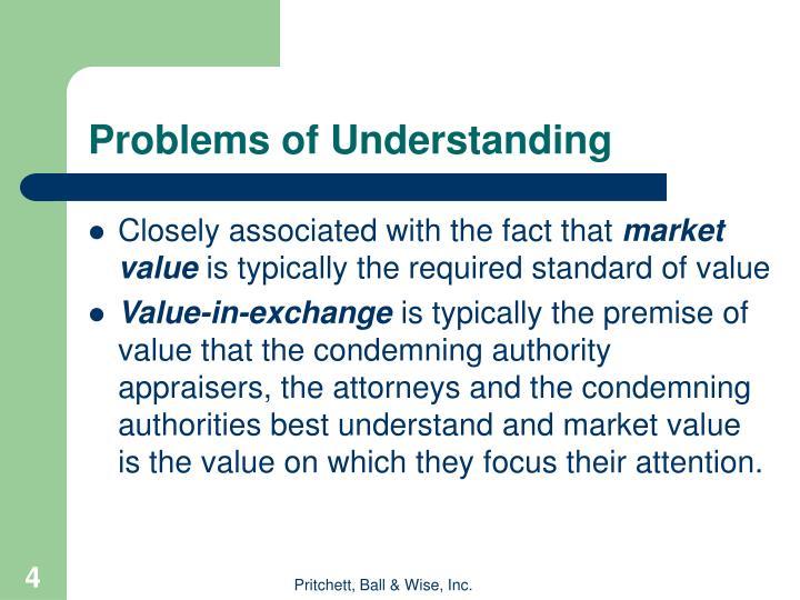 Problems of Understanding
