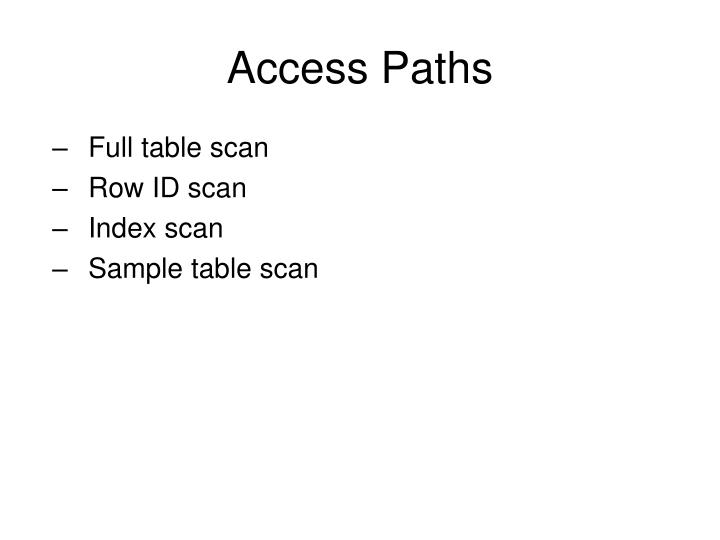 Access Paths