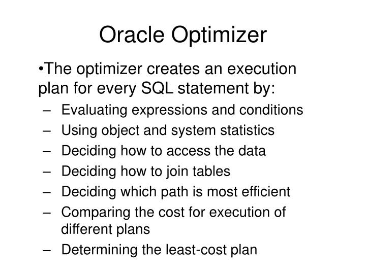 Oracle Optimizer