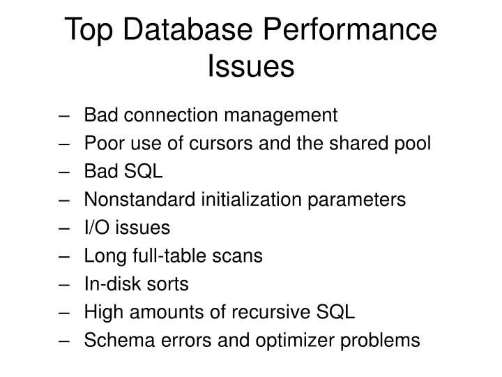 Top Database Performance Issues