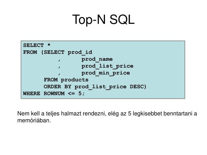 Top-N SQL