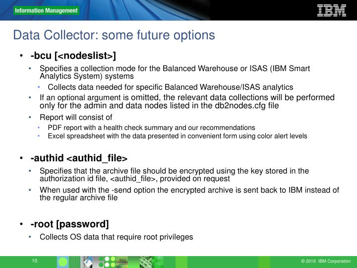 Data Collector: some future options