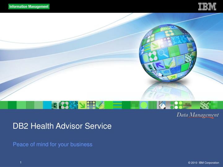 DB2 Health Advisor Service