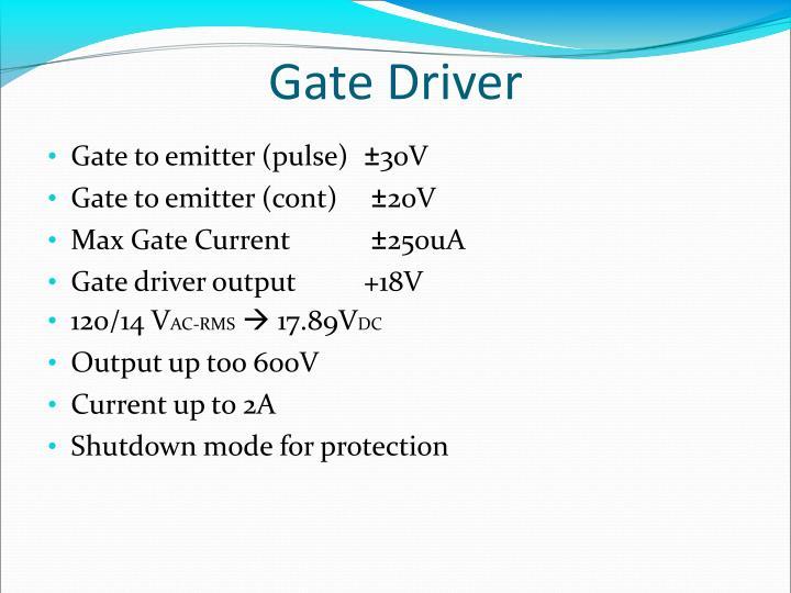 Gate Driver