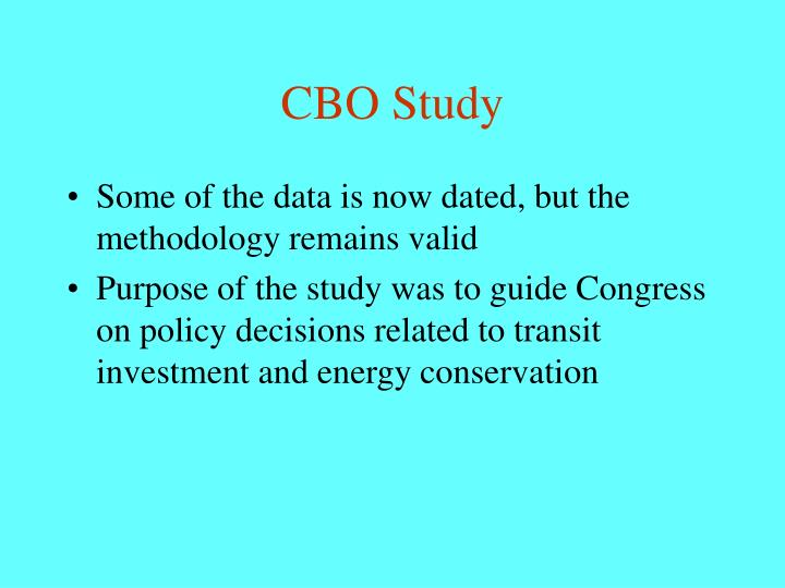 CBO Study