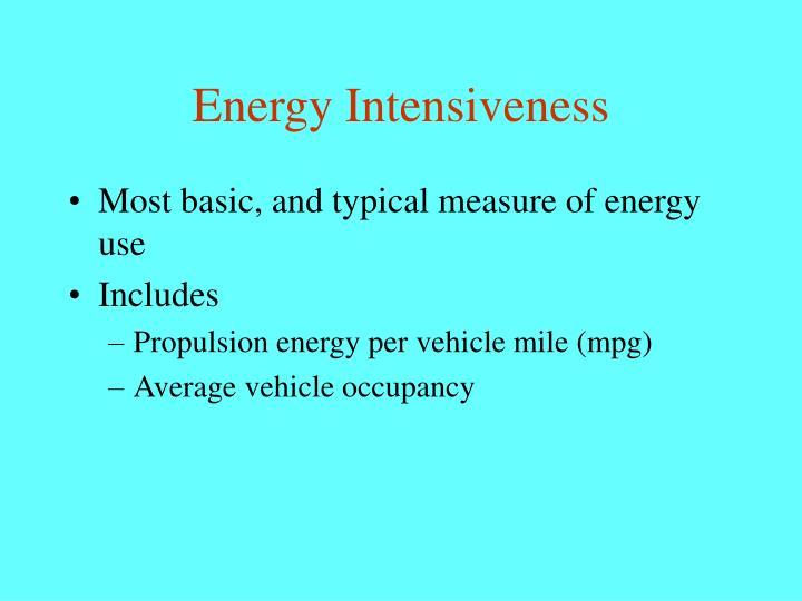 Energy Intensiveness