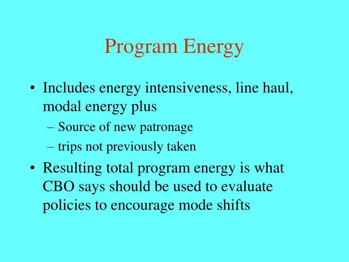 Program Energy