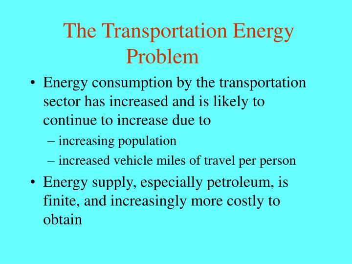 The Transportation Energy Problem