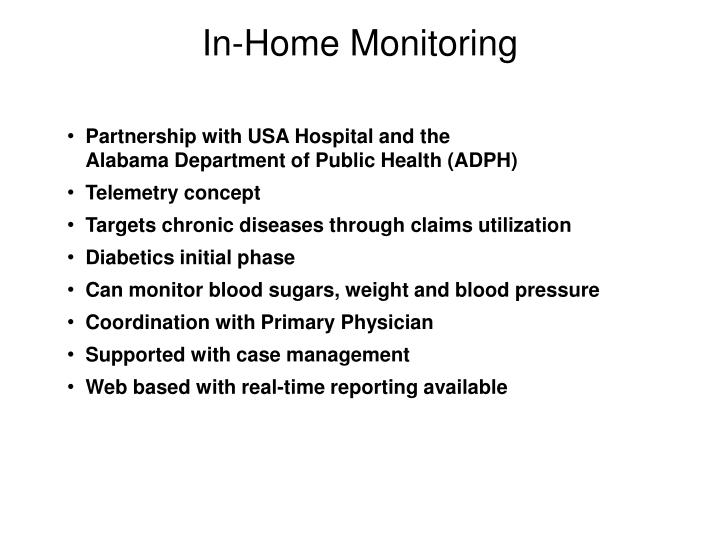In-Home Monitoring