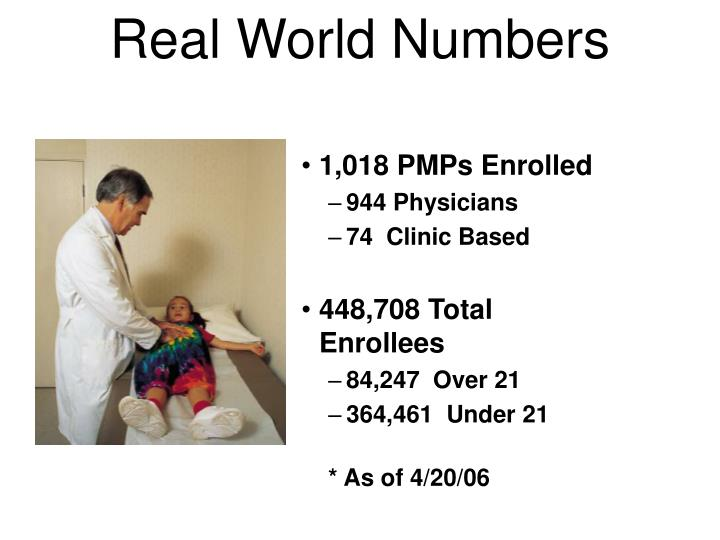 Real World Numbers