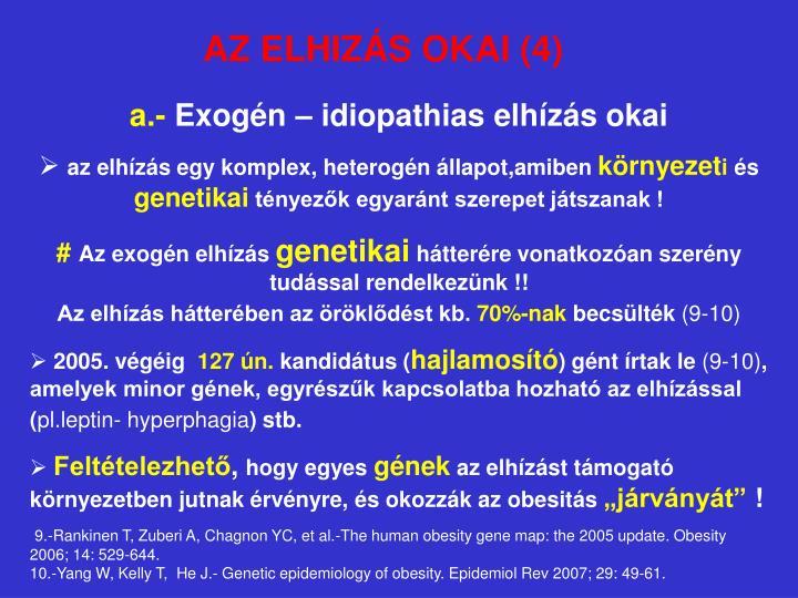 AZ ELHIZÁS OKAI (4)