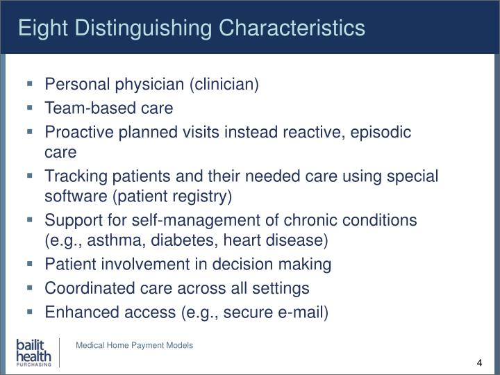 Eight Distinguishing Characteristics