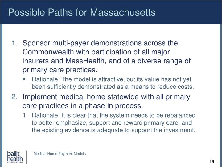 Possible Paths for Massachusetts