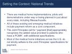 setting the context national trends