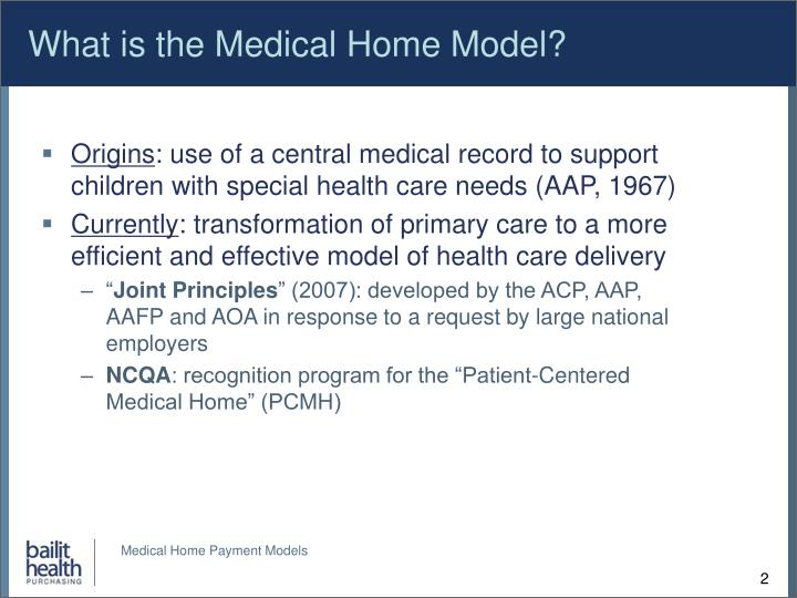 What is the Medical Home Model?