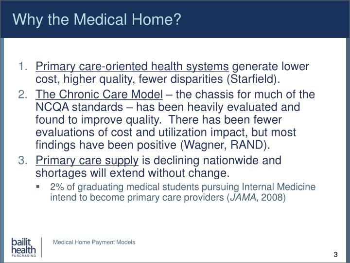 Why the Medical Home?