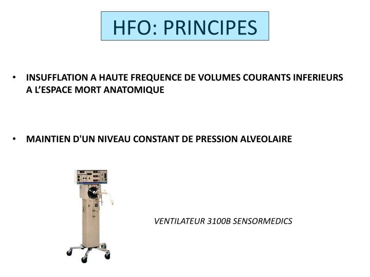 HFO: PRINCIPES