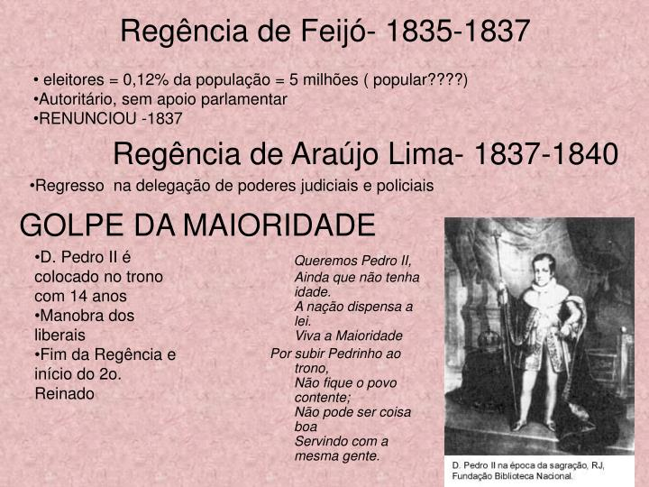 Regência de Feijó- 1835-1837