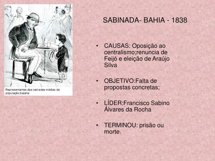 SABINADA- BAHIA - 1838