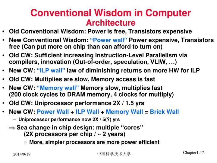Conventional Wisdom in Computer