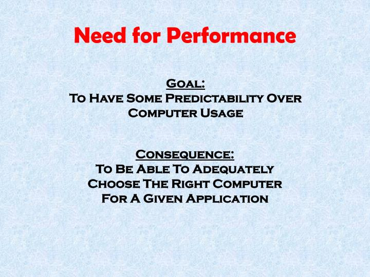 Need for performance1