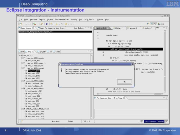 Eclipse Integration - Instrumentation