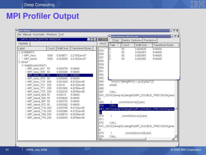 MPI Profiler Output