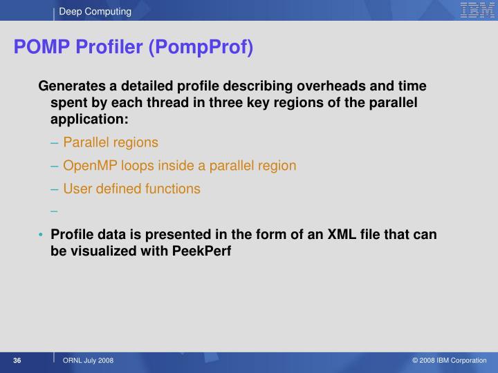 POMP Profiler (PompProf)