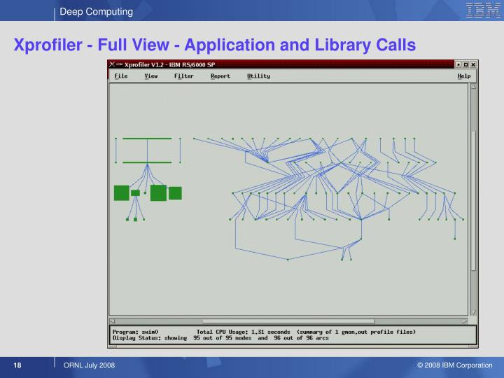 Xprofiler - Full View - Application and Library Calls