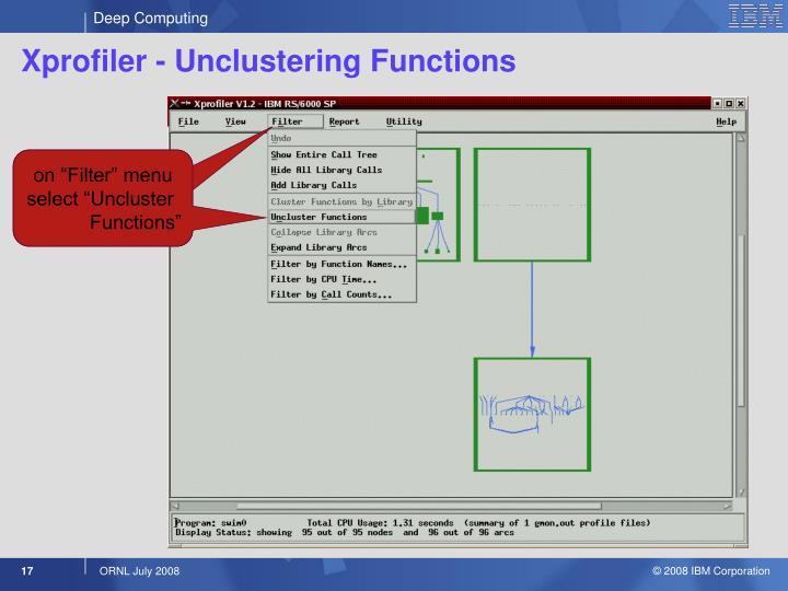Xprofiler - Unclustering Functions