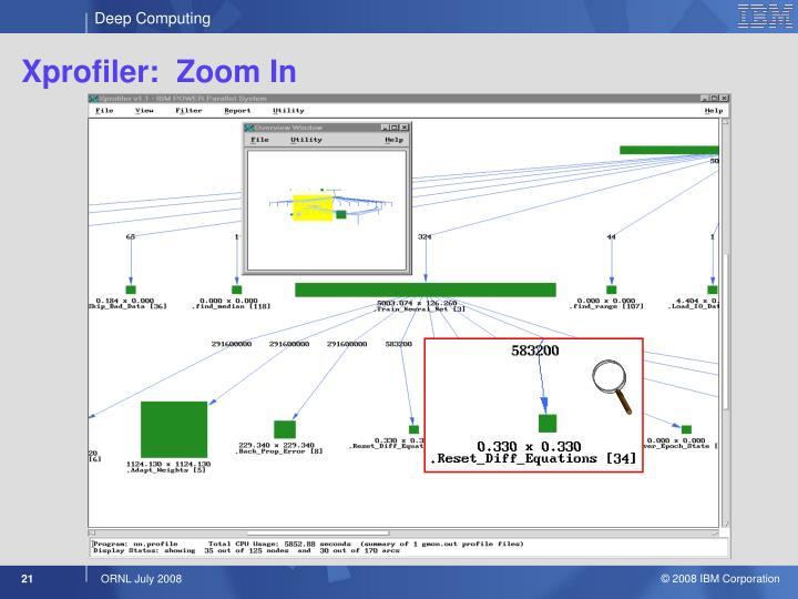 Xprofiler:  Zoom In