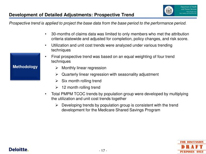 Development of Detailed Adjustments: Prospective Trend