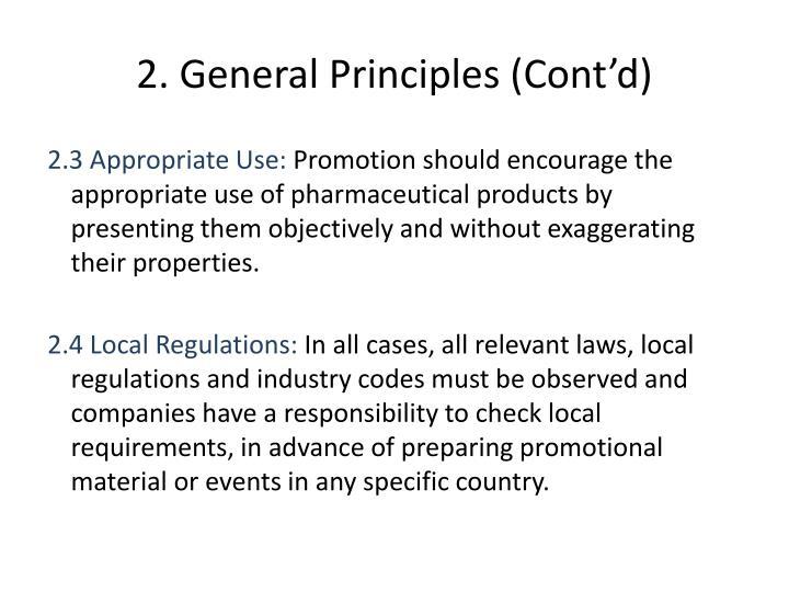 2. General Principles (Cont'd)