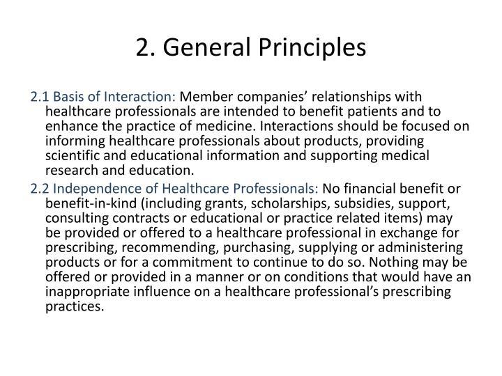 2. General Principles