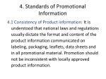 4 standards of promotional information