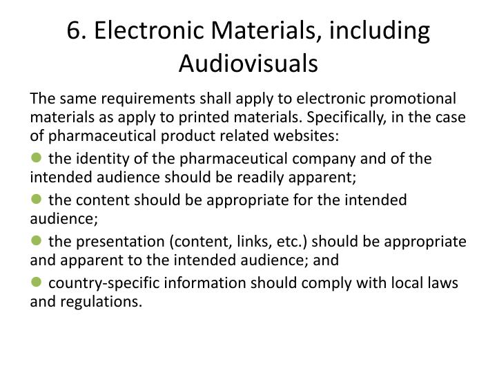 6. Electronic Materials, including Audiovisuals