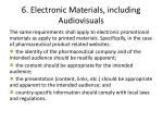 6 electronic materials including audiovisuals