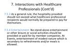 7 interactions with healthcare professionals cont d5