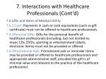 7 interactions with healthcare professionals cont d6