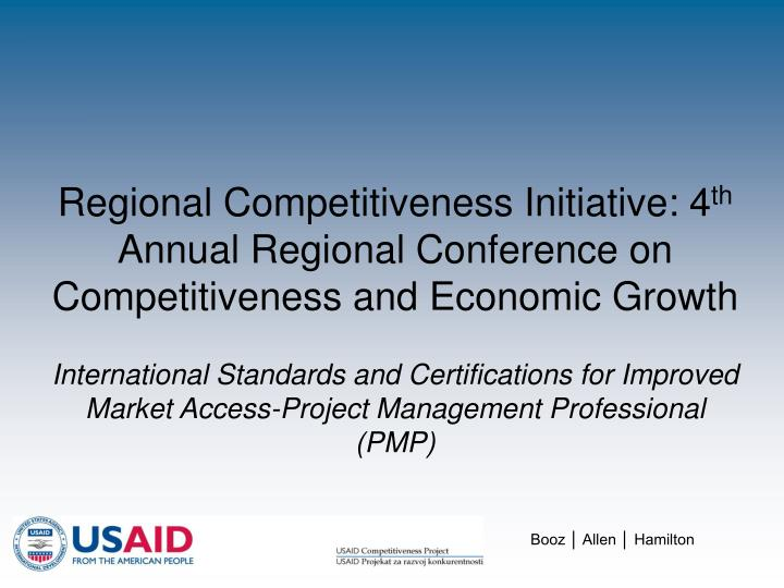 Regional Competitiveness Initiative: 4