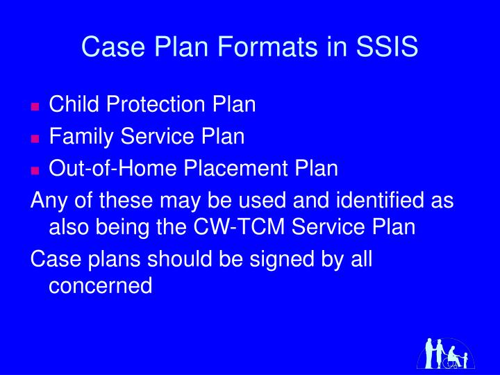 Case Plan Formats in SSIS