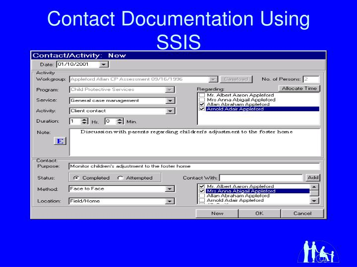 Contact Documentation Using SSIS