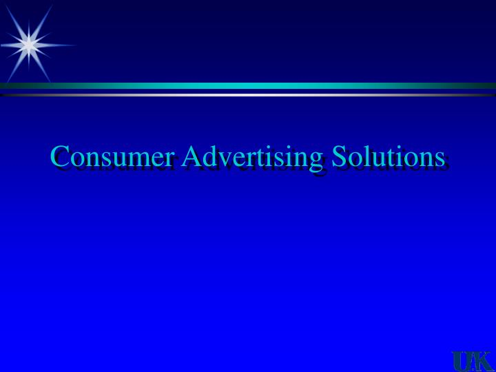 Consumer Advertising Solutions