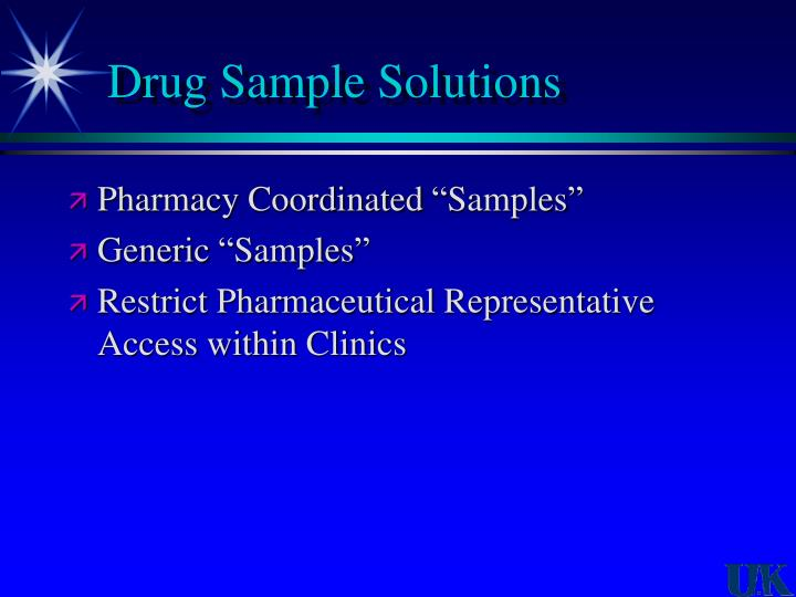 Drug Sample Solutions