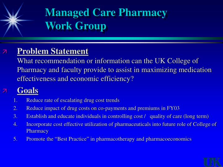 Managed Care Pharmacy
