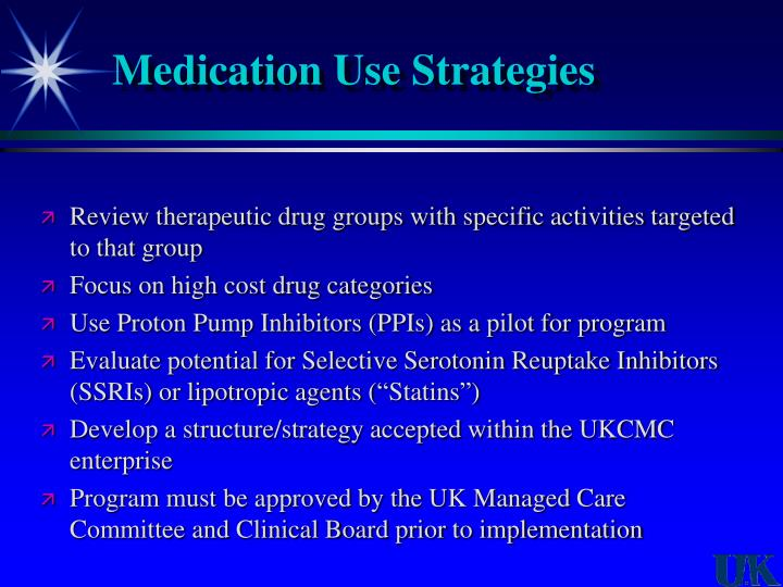 Medication Use Strategies